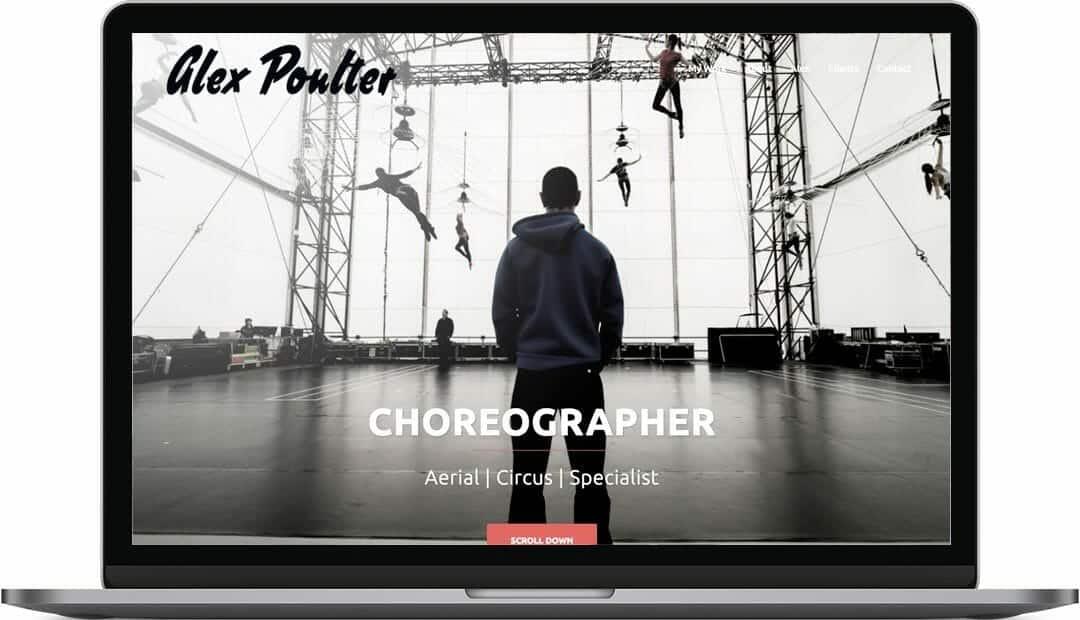 Alex Poulter | Choreographer Web Design in Hove