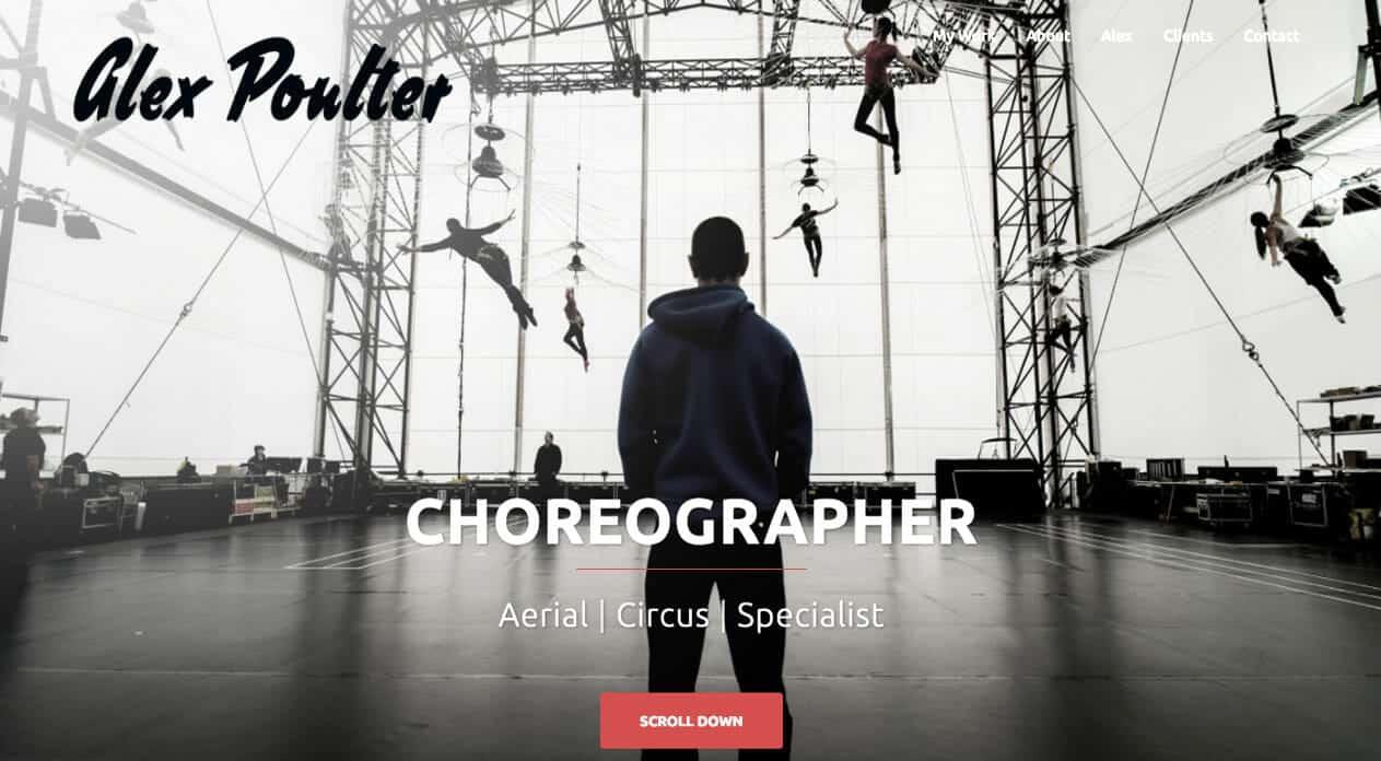Alex Poulter Home Page design