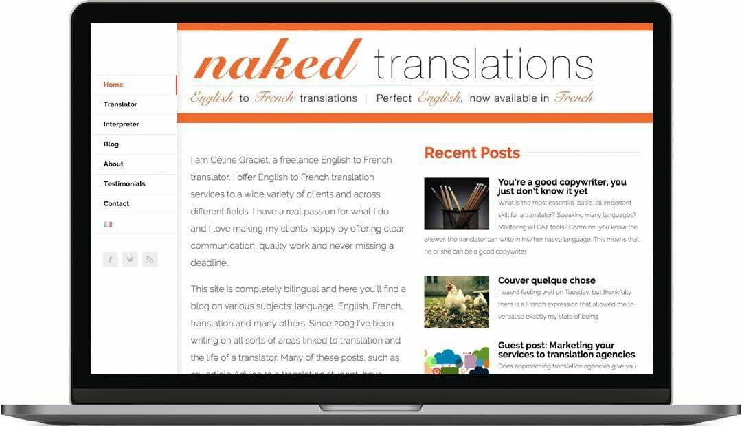 Naked Translations | Translation Website Design