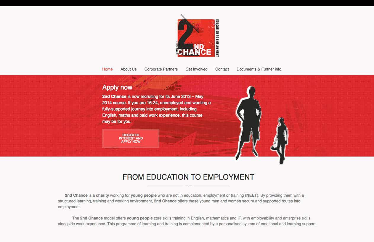 2nd Chance web design