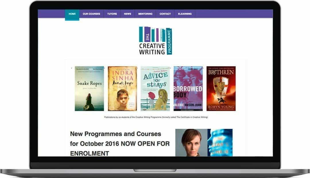 The Creative Writing Programme web design