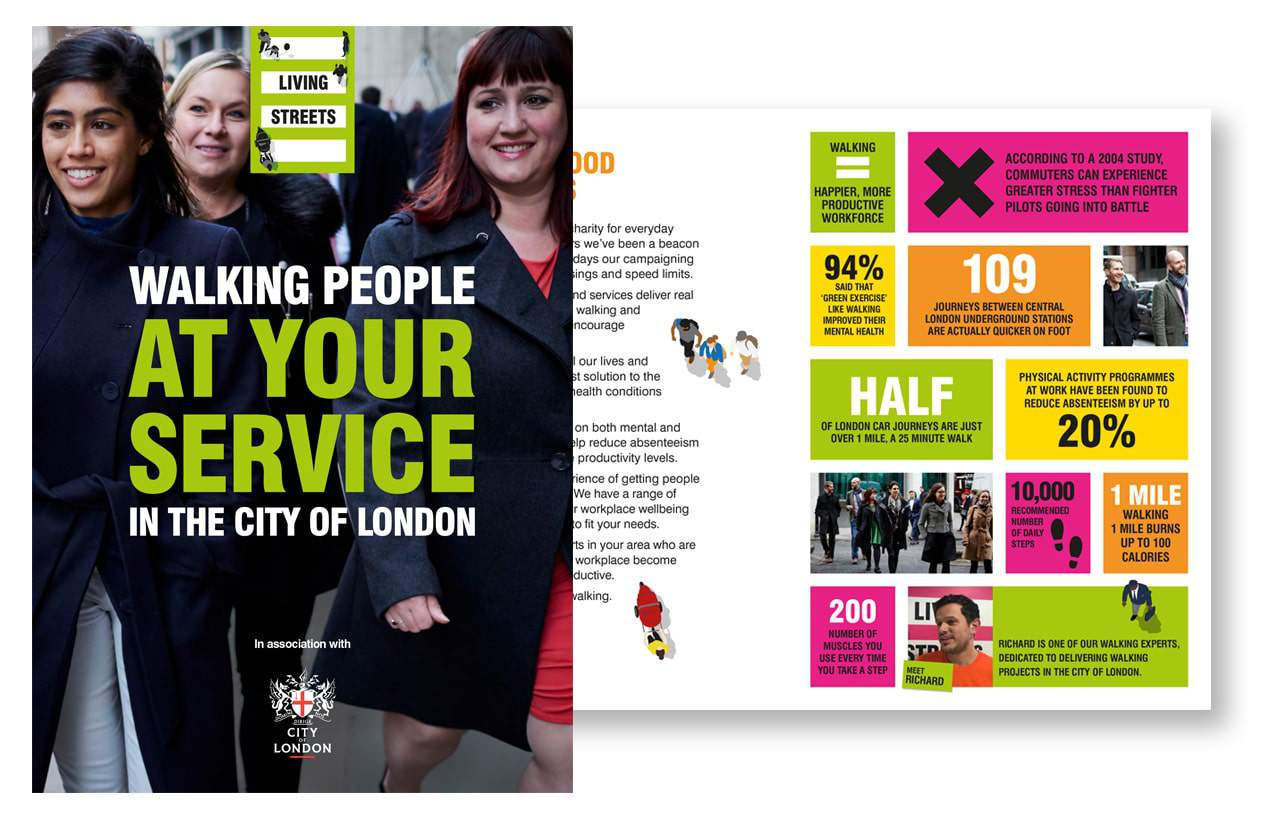 Living Streets brochure design