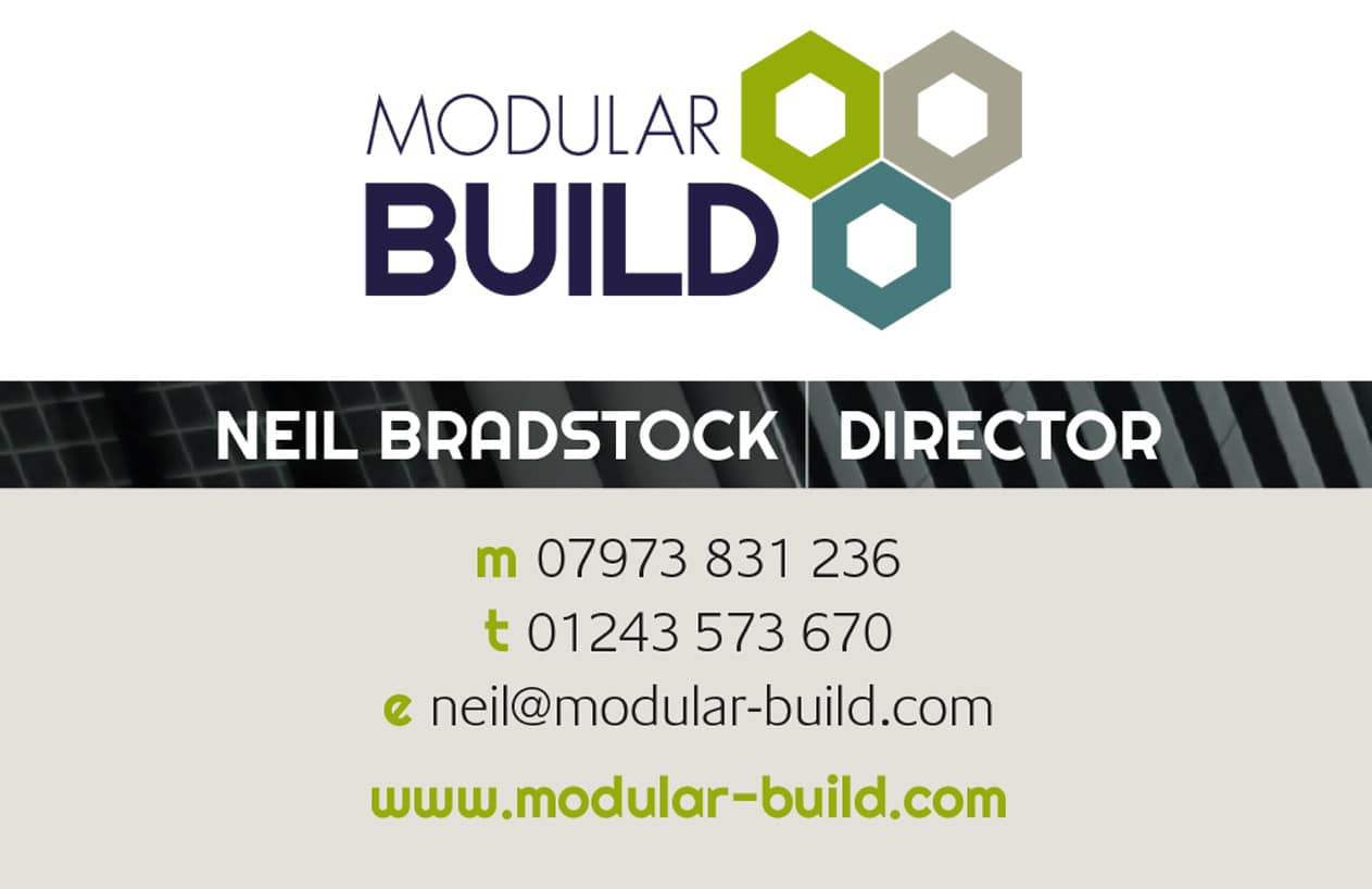 Modular Build business card design