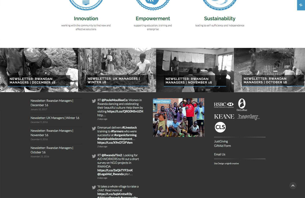 Rwanda Aid website design home 2