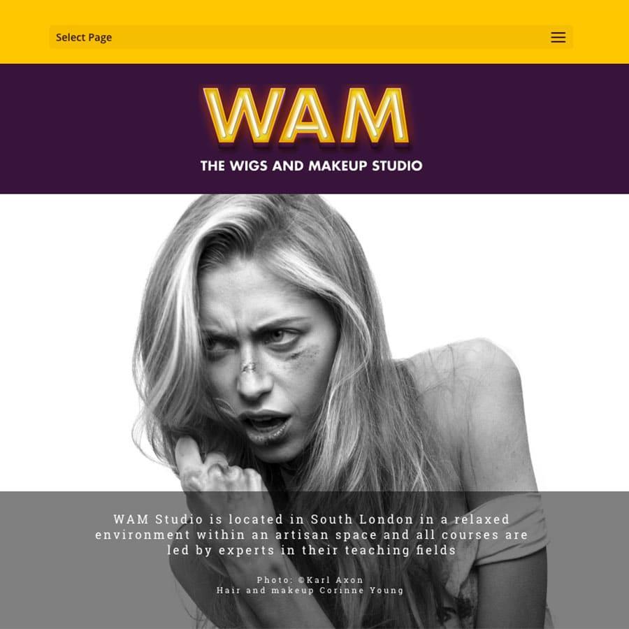 WAM! (Wigs and Make up Studio) website design