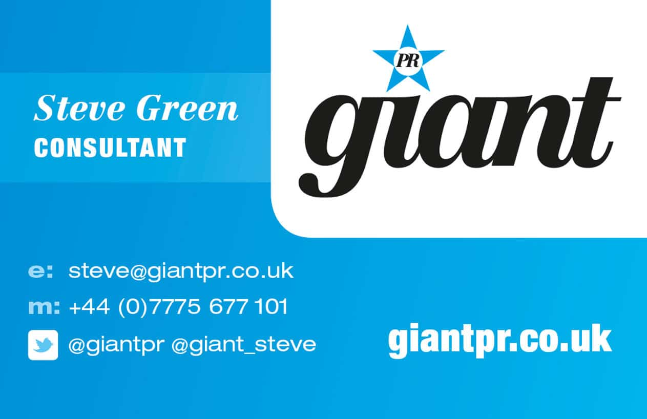 Giant PR business card design