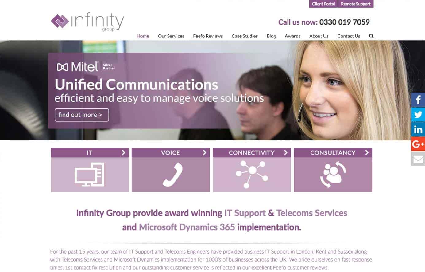 Infinity Group home web design
