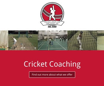 Great Appeal | Cricket Coaching Web Design