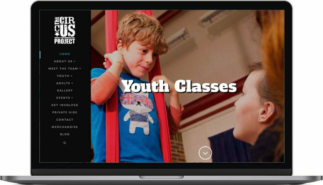 The Circus Project   Brighton Charity Website Design