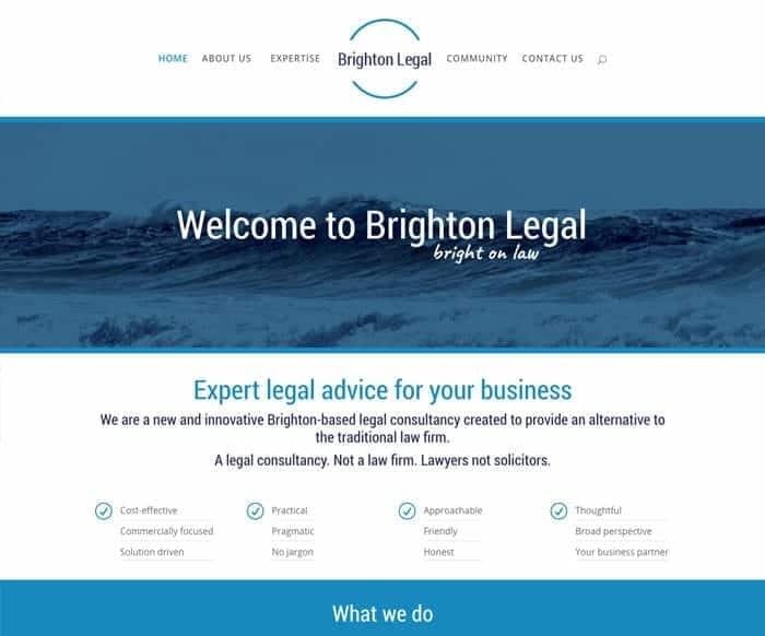 Brighton Legal Home page web design