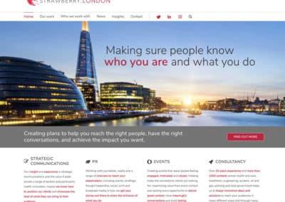 Communications web design