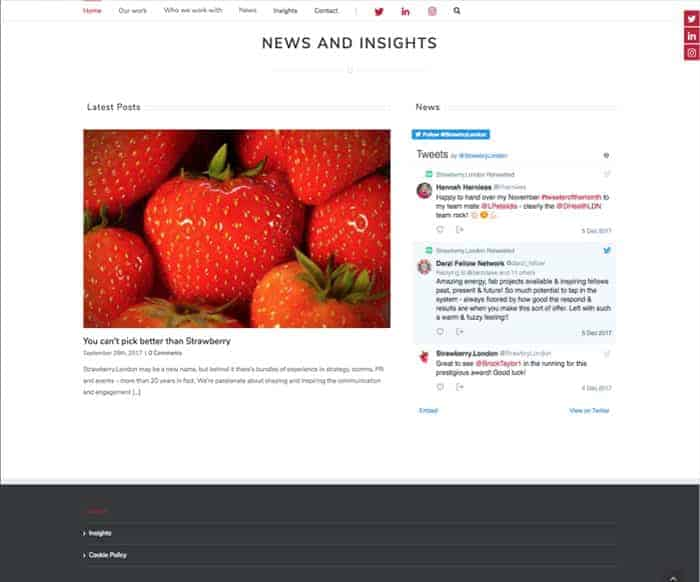 Strawberry web design insights