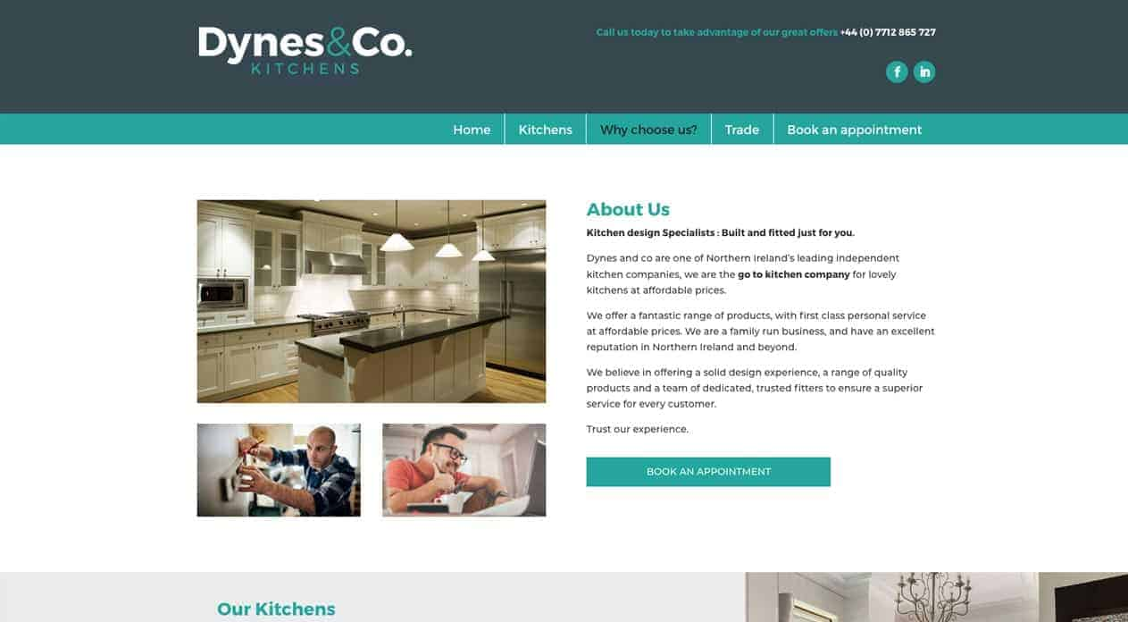 Dynes web design about