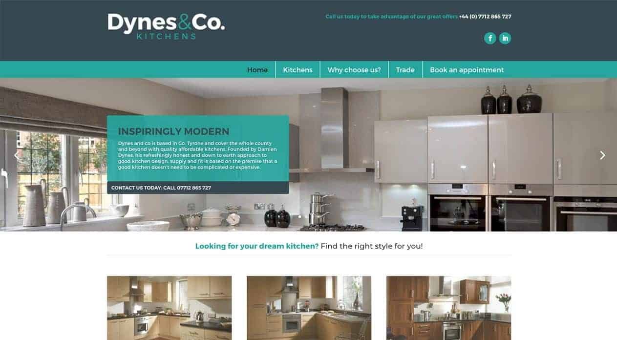 Dynes web design home