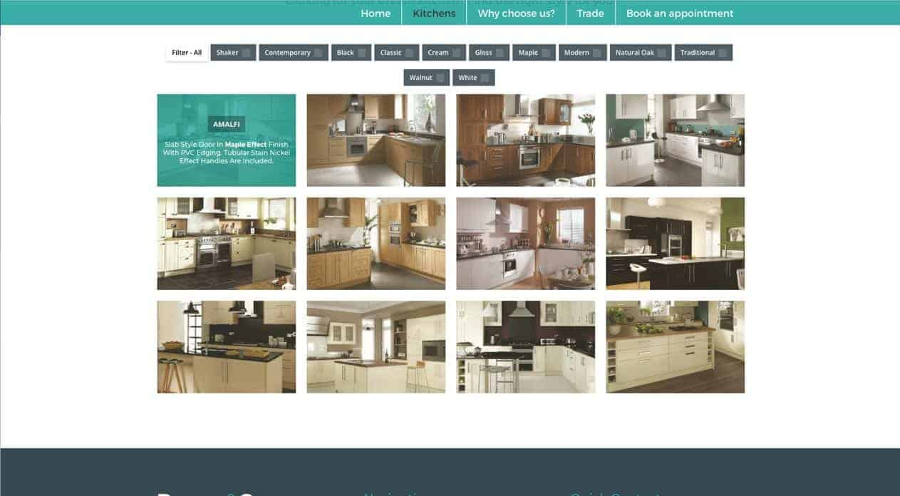 Dynes web design kitchens