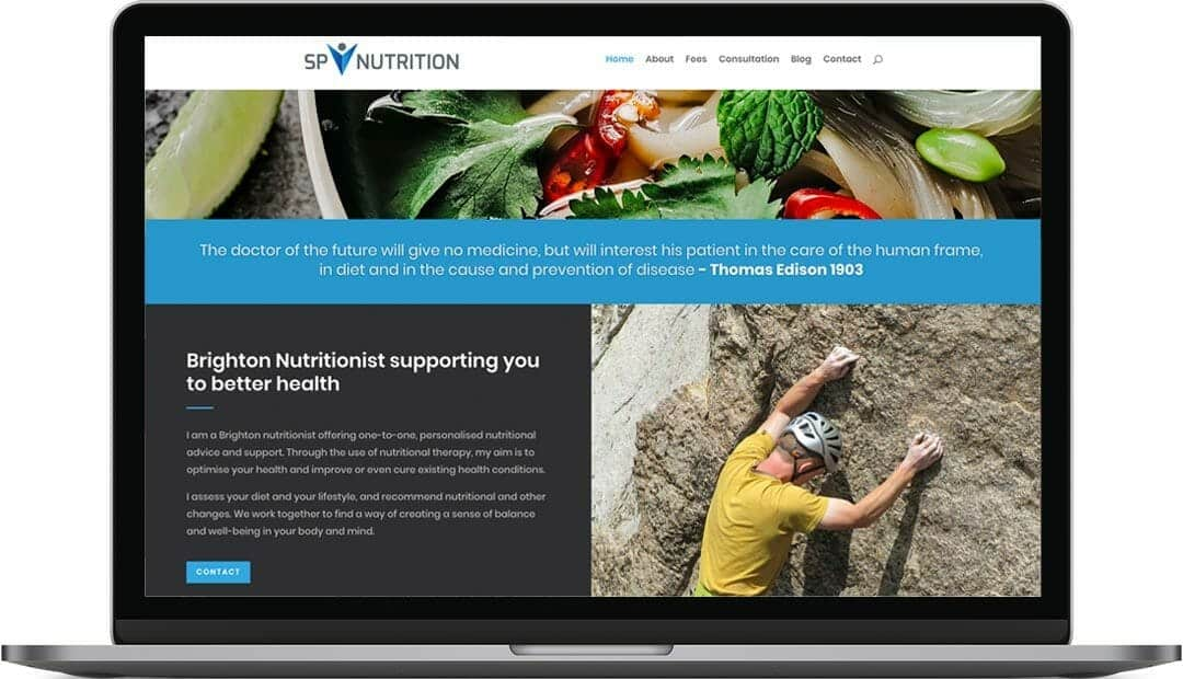 SP Nutrition Web Design | Nutritional Therapist