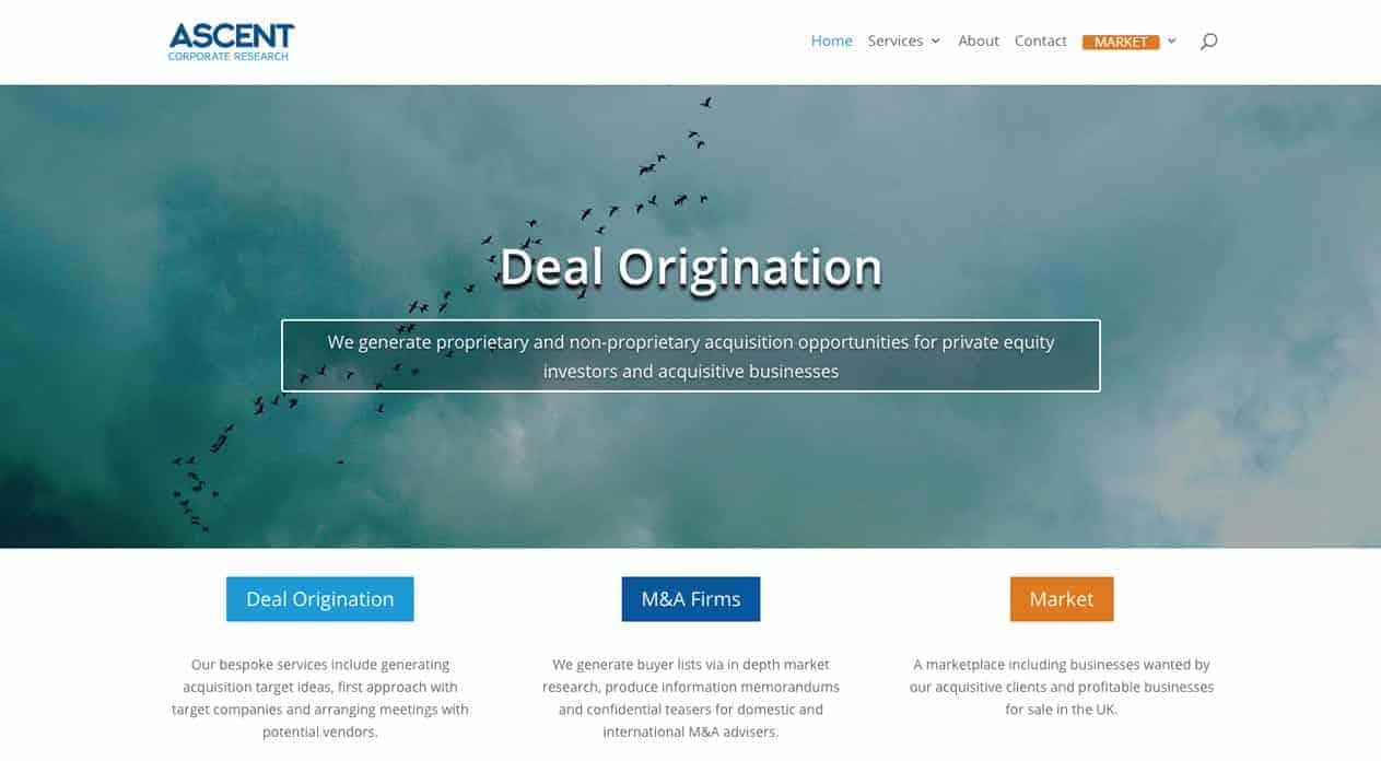 Ascent web design home page