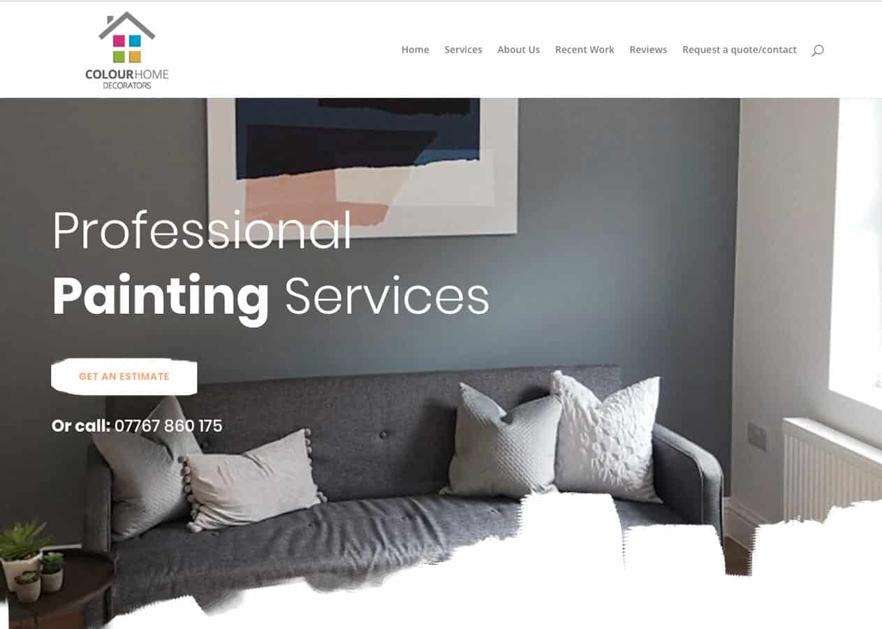 Colour Home Decorators home page design