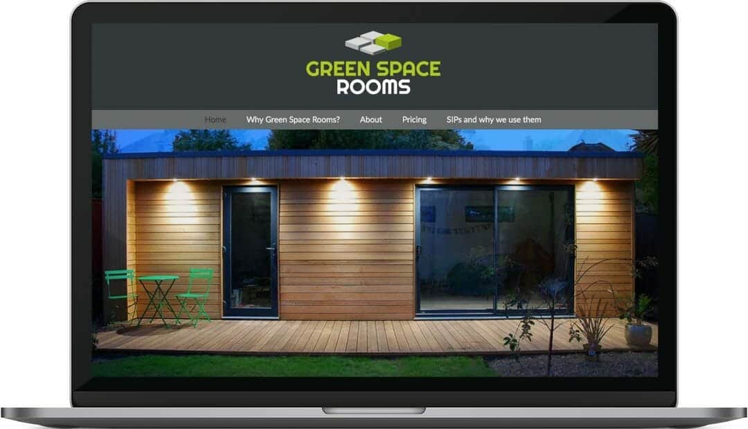 Green Space Rooms | Construction Logo and Website Design