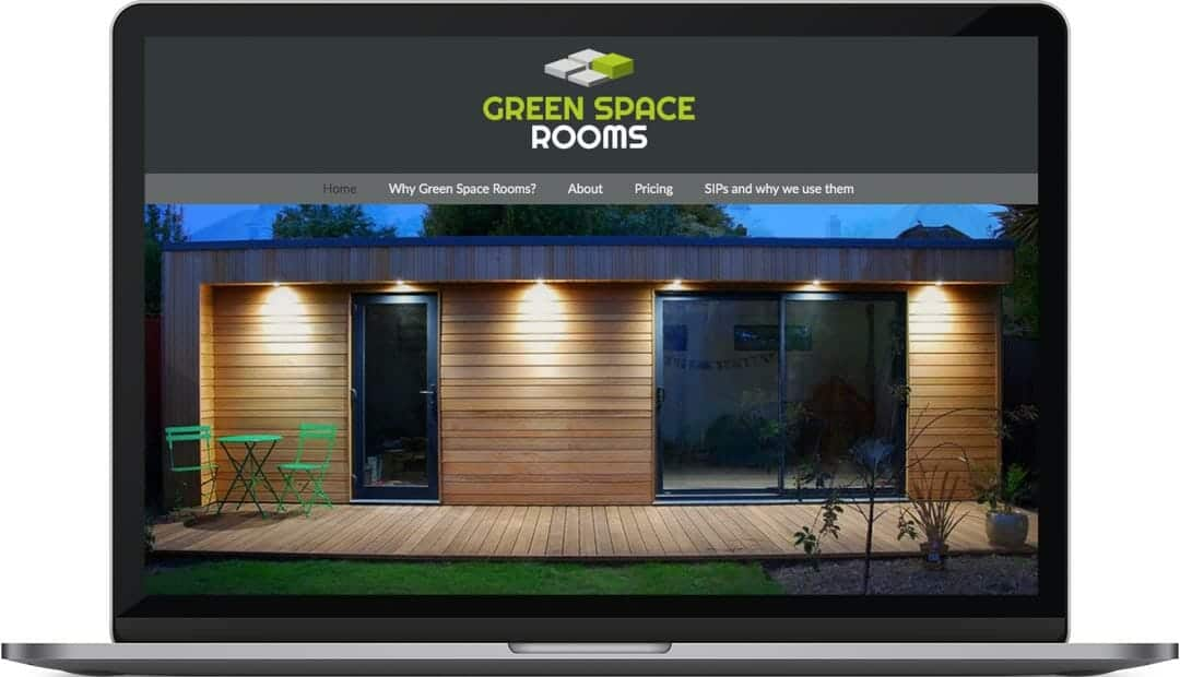 Green Space Rooms website design
