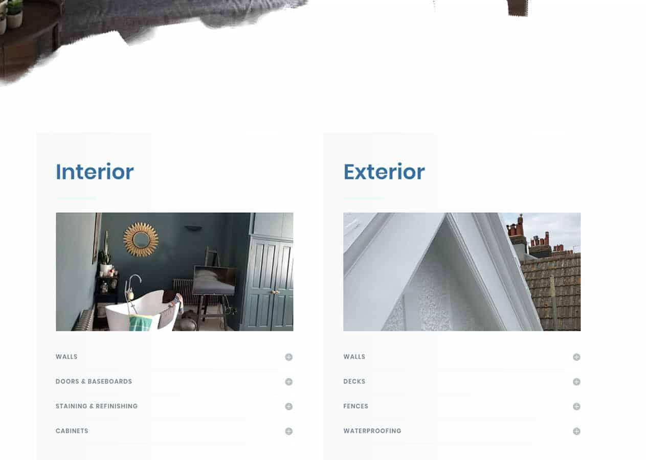 Colour Home Decorators home page design 2