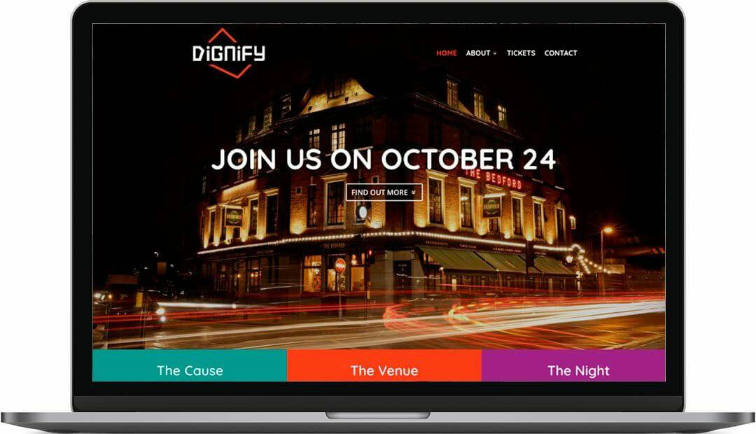 Dignify | Charity Fundraising Website Design