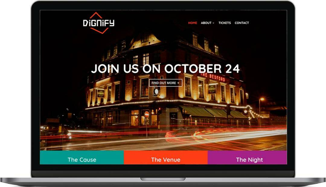 Dignify Fundraising Web Design