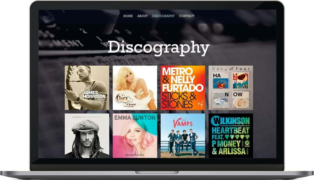 Patrick Mascall discography web design