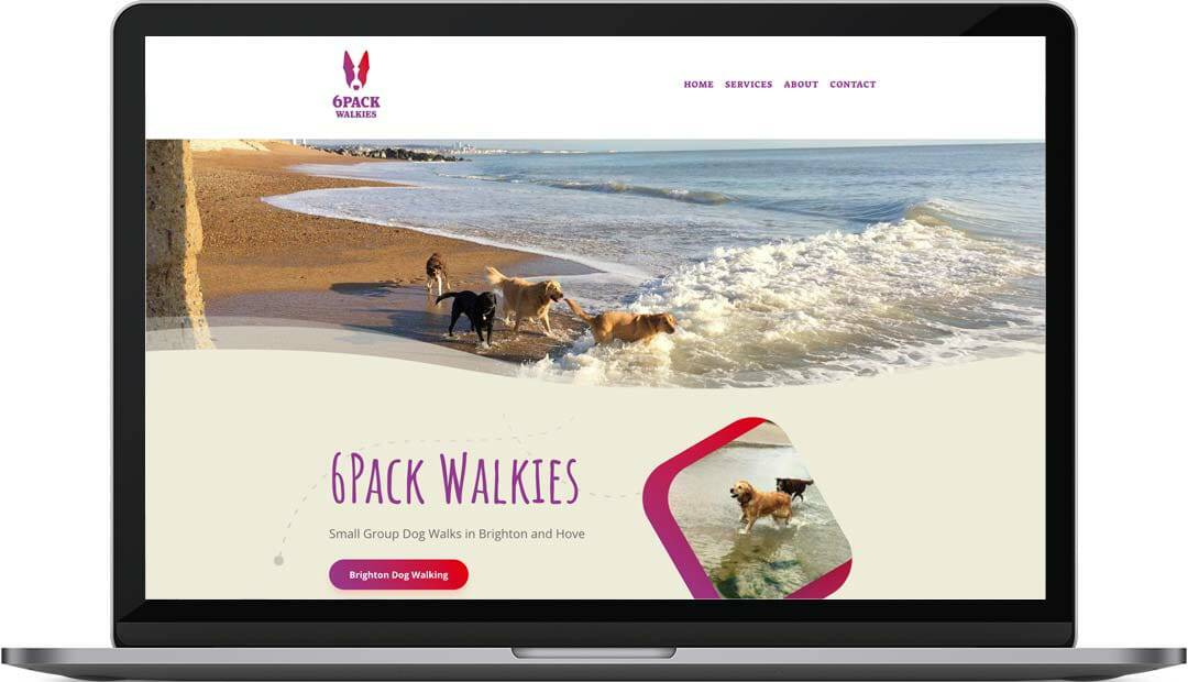 6Pack Walkies | Brighton Dog Walker Website Design