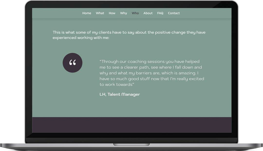 Hayley Mascall coaching web design quotes