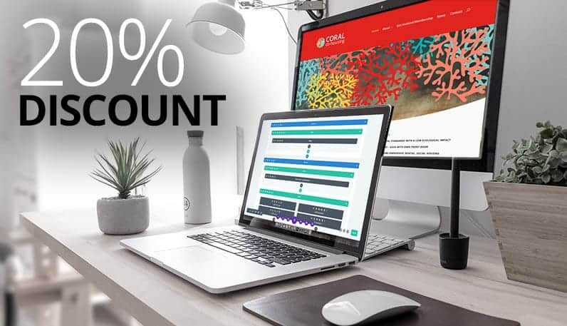 20% Discount on web design for start-ups and new business
