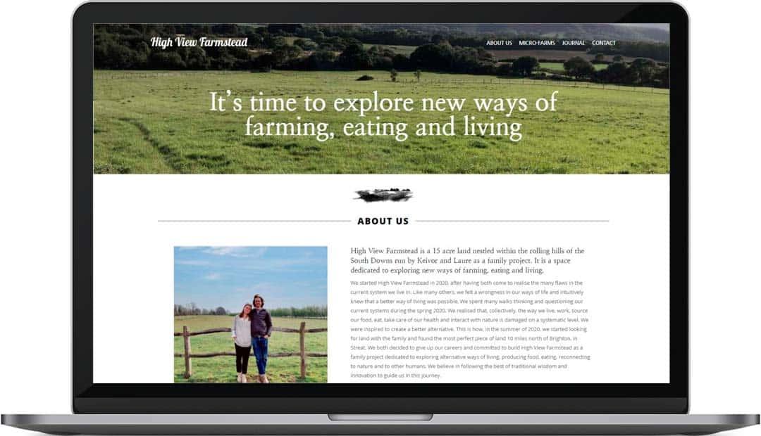 High View Farmstead | Website Design