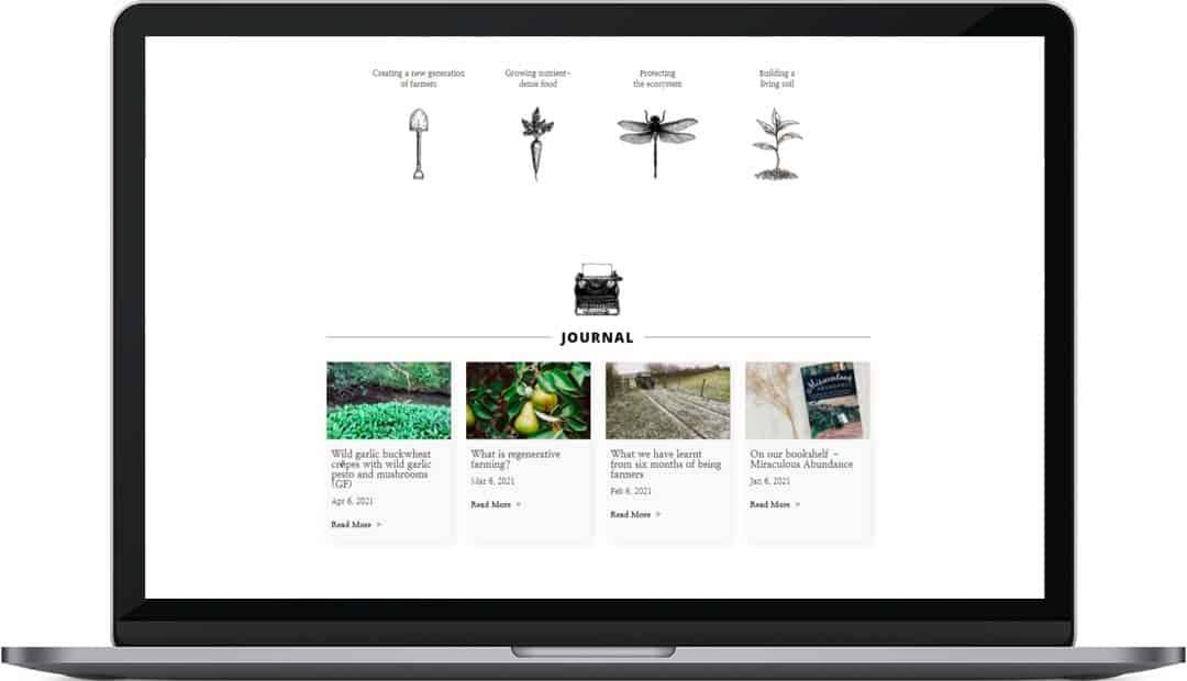 High View Farmstead web design home page