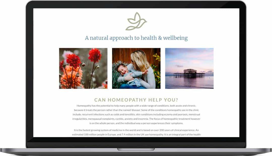 Hove Garden Homeopathy Web Design Home 2